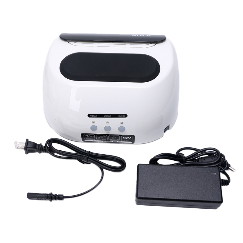 CCFL LED Lamp Nail Dryer For Nail Gel Polish Curing US Plug 12V Plastic+Metal US Plus White Nail Dryer 2017 NEW Professional 48W 24 48w uv lamp nail polish dryer led white drying gel curing dryer us plug