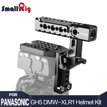 SmallRig Helmet Kit  for Panasonic Lumix GH5 / GH5S DMW-XLR1 Microphone Adapter Cage With Arri Locating Holes Cold Shoe Mount