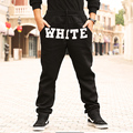 XL-8XL Плюс Размер Звезда Же Стиле ХИП-ХОП БЕЛЫЙ Марка мужчины брюки Свободные Хлопок хип-хоп брюки Мужчины (XXL 3XL 4XL 5XL 6XL 7XL 8XL)