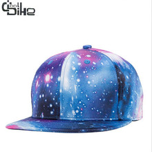 Fashion 3D Color Galaxy Unisex Baseball Cap Hip Hop Plat Brim Hats Snapback Caps Sunhat Cap gorras de beisbol Male Females Hats