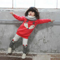 2017 new Spring children girls clothing sets baby girls clothes Long-Sleeved Sweatershirt Top+Pants Outfits Fox Piece Suit