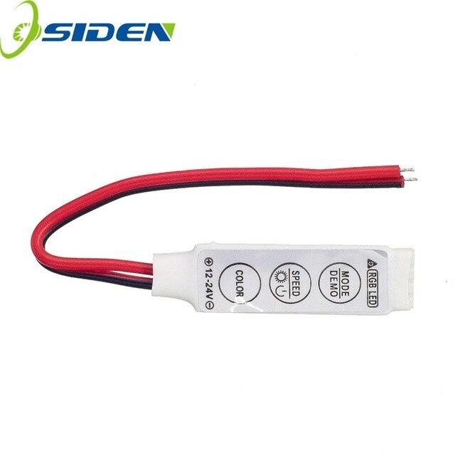 50 יחידות מיני RGB בקר 12 v 6A 3 מפתחות עבור 5050 3528 RGB LED רצועת אור 19 מצבים דינמיים ו 20 סטטי צבע משלוח חינם