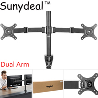 Universal Dual Arm TV Mount Monitor Mount Double Twin Arm Desk Stand TV LCD LED 10