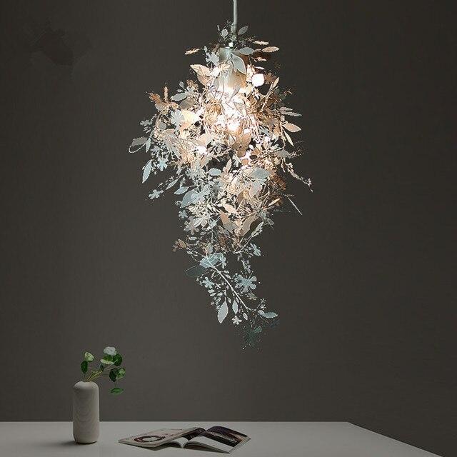 Modern  Stainless Steel Phantom Droplight DIY Led Pendant Lights Lamp Fixtures for Cafe Bar Store Bedroom Dining Room