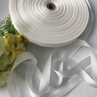 20 мм * 90 м белый Подлинная Твердые чистого шелка лента для вышивки и ручной работы проекта, костюм аксессуар ткань, бесплатная доставка