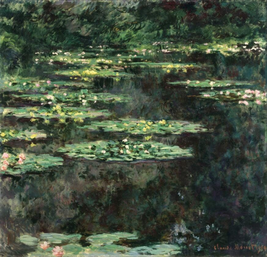 High quality Oil painting Canvas Reproductions Water Lilies (1904)1129  By Claude Monet hand paintedHigh quality Oil painting Canvas Reproductions Water Lilies (1904)1129  By Claude Monet hand painted