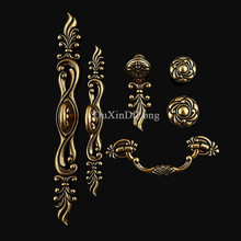 Brand New 10PCS Furniture Handles European Antique Style Drawer Wardrobe Cupboard Kitchen Cabinet Door Pulls Handles and Knobs