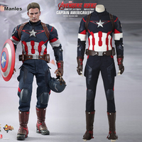 Avengers 2 Age Of Ultron Captain America Cosplay Superhero Steve Rogers Costume Cosplay Halloween Suit Adult