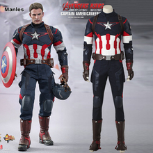 Avengers 2 Age of Ultron Captain America Cosplay Superhero Steve Rogers Costume Cosplay Halloween Suit Adult Men Outfit Clothes