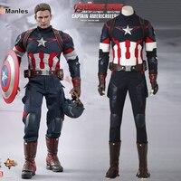 Avengers 2 Age Of Ultron Captain America Cosplay Superhero Steve Rogers Costume Cosplay Halloween Suit Adult