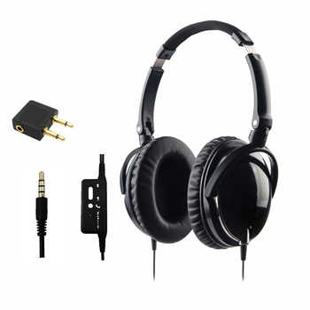 Active Noise Cancelling Headphones With Microphone Foldable Over Ear HiFi Noise isolation Headset Netsky Earphone Auriculares - DISCOUNT ITEM  21% OFF Consumer Electronics