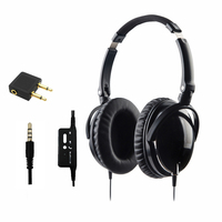 High Performance Over Ear Foldable Active Noise Cancelling HD Headphones Airline Headphones Reduce 90 Background Noise