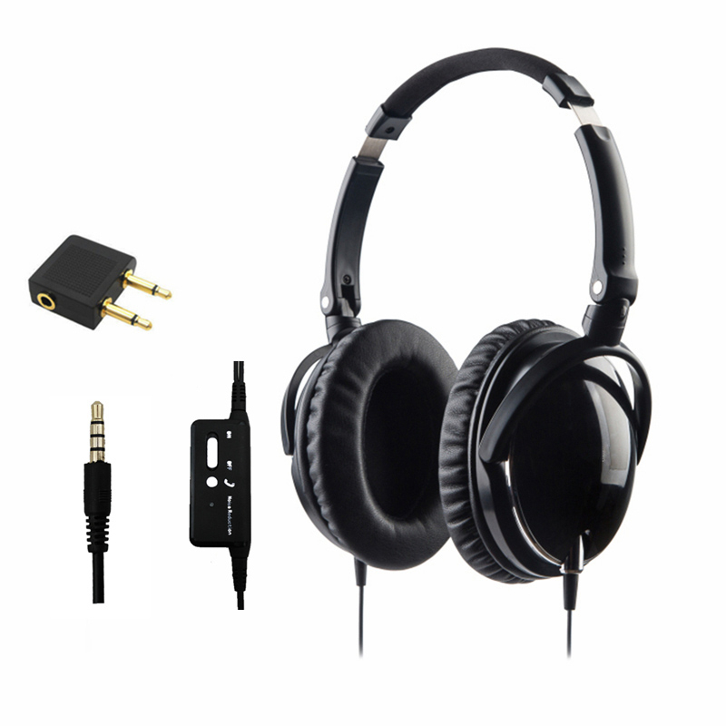 Newest Active Noise Cancelling Headphones With Mic Foldable Over Ear HiFi Noise isolation Headset Netsky Earphone