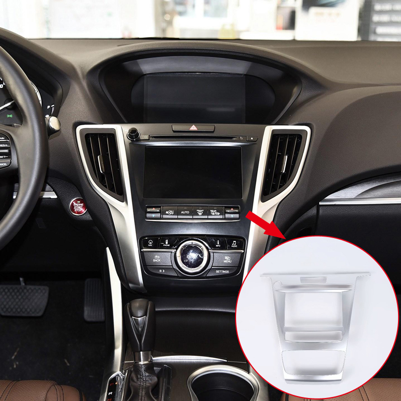 1PCS ABS Matte Interior Center Console Navigation Cover