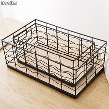 NOOLIM, cesta nórdica Vintage de hierro, red para almacenamiento de baño, escritorio, cesta para desechos, pequeños artículos, organizador, escritorio, libro, cesta de almacenamiento de frutas
