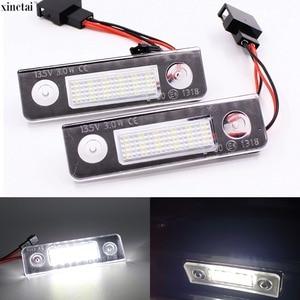 Image 1 - 2 sztuk Canbus bezawaryjna samochodowa LED numer oświetlenie tablicy rejestracyjnej dla Skoda Octavia 2 1Z 2008 ~ Roomster 5J 2006 2010