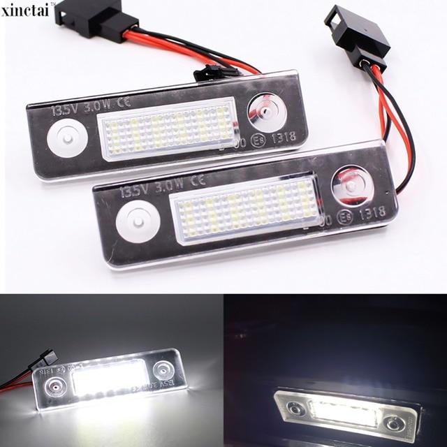2Pcs Canbus Error Free Car LED Number License Plate Light for Skoda Octavia 2 1Z 2008~ Roomster 5J 2006 2010