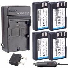 4 pièces Probty EN-EL9 EN EL9 ENEL9a Batterie + Chargeur kit pour Nikon D700 D300 D100 D3000 D5000 D5100 D80 D60 D70s D70 D50 D40X D40