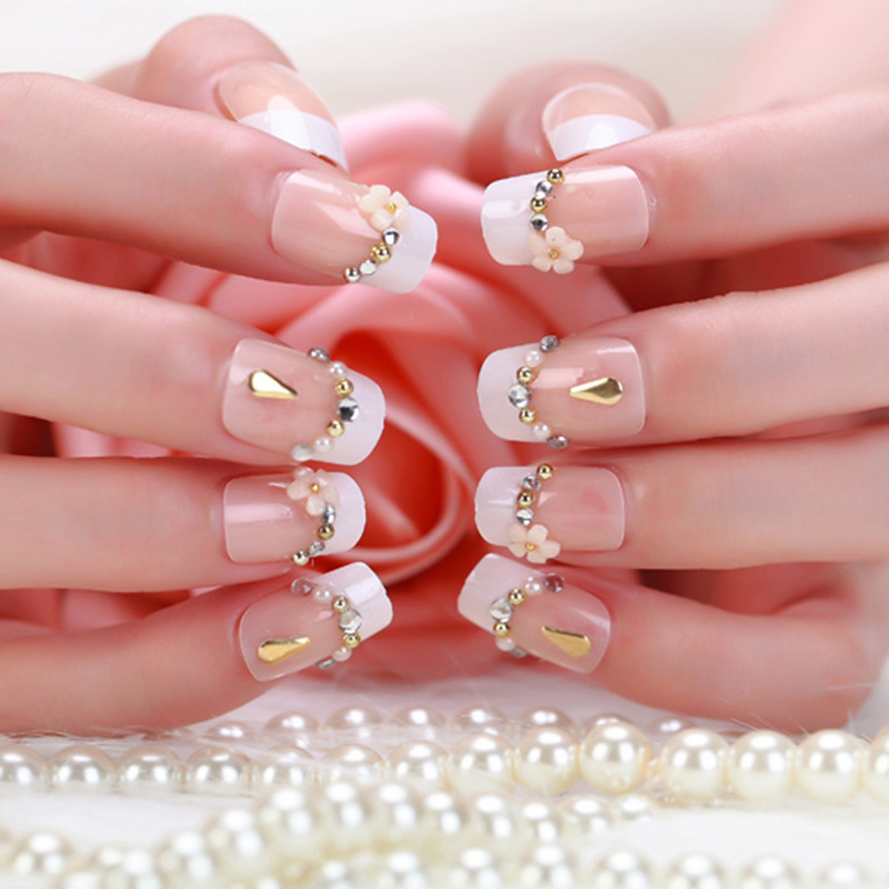 2018 Limited Promotion Faux Ongles False Nails 24 Lovely Full Bride ...