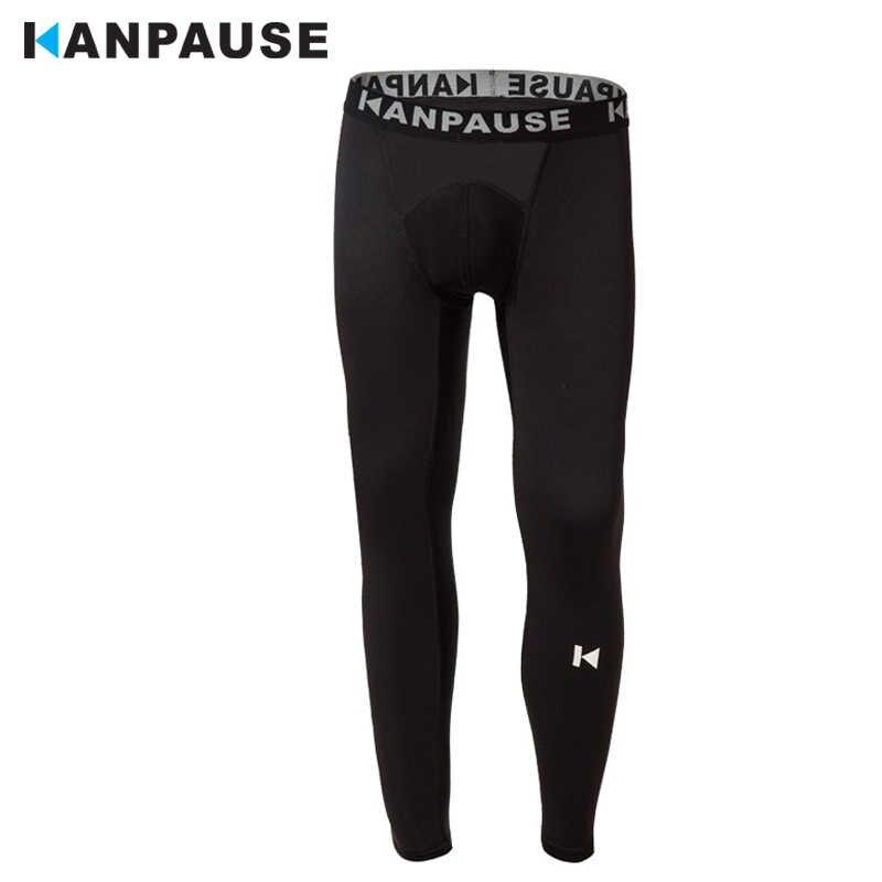 新到着 KANPAUSE 男性のタイツを実行しているトレーニングパンツ圧縮スポーツウェア