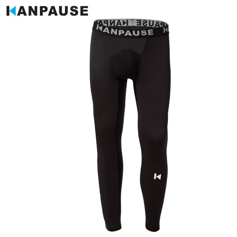 Новое Поступление KANPAUSE мужские Колготки Брюки Бег Тренировочные Компрессионные Спортивная Одежда