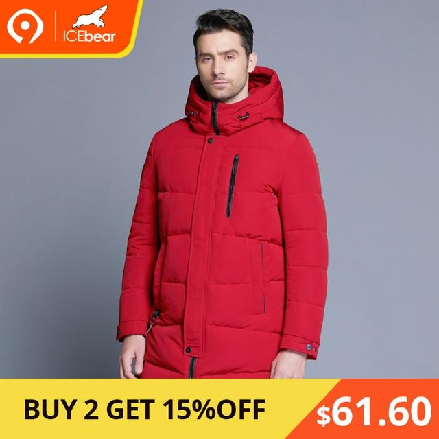 ICEbear 2018 Лидер продаж зима теплый ветрозащитный капюшон Для мужчин куртка теплая Для мужчин парки высокое качество парка модное повседневное пальто MWD18856D