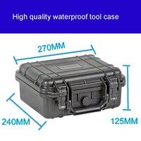 Alet çantası araç kutusu bavul Darbeye dayanıklı mühürlü su geçirmez plastik durumda ekipman kutusu kamera çantası metre kutusu önceden kesilmiş köpük ile