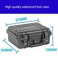Tool case toolbox koffer slagvast verzegelde waterdichte plastic case apparatuur doos camera case meterkast met pre-cut schuim
