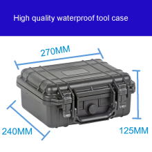 Tool case toolbox suitcase Impact resistant sealed waterproof plastic case equipment box camera case Meter box with pre-cut foam ip67 waterproof shockproof black compressive durable toolbox with full cubes foam inserts