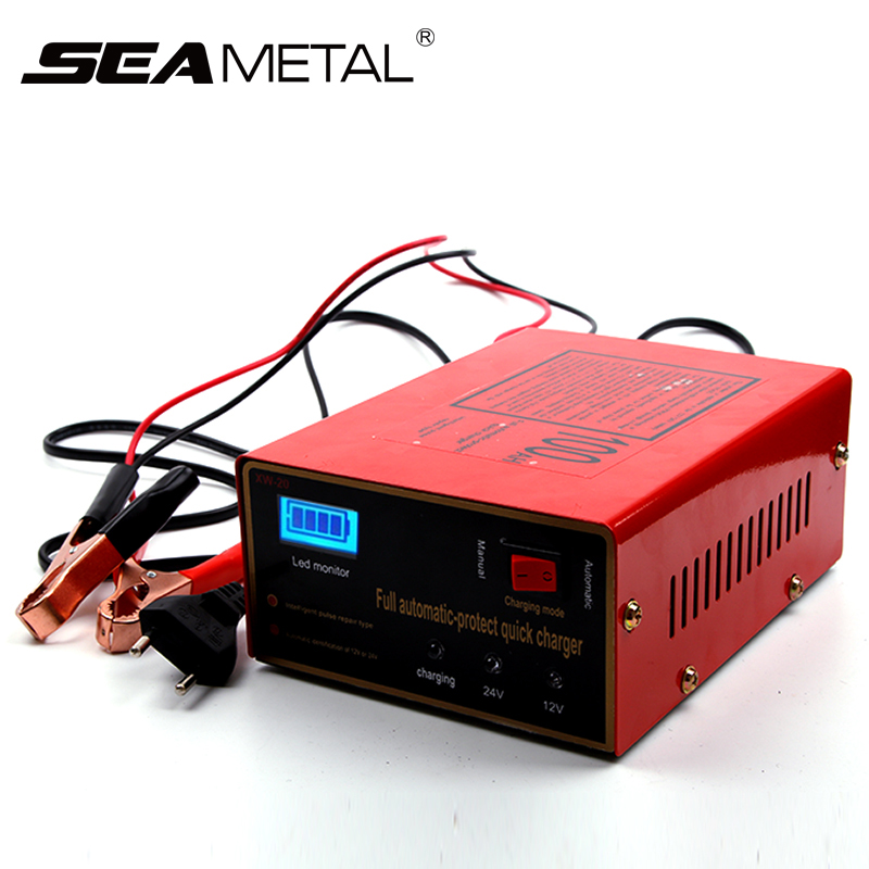 Intelligent 12V//24V 10A Pulse Lead Acid Charger Car Motorcycle Battery Charger