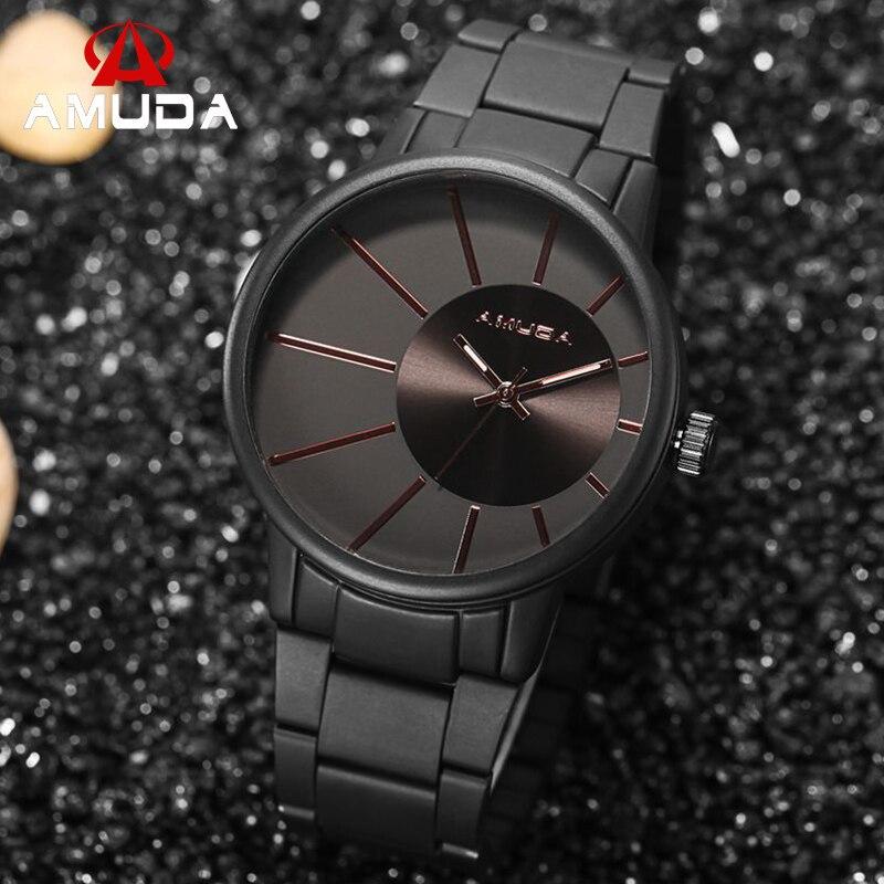 f07a44cea4f4 AMUDA de lujo de los hombres negro militar relojes de hombre Casual de cuarzo  negocio deporte reloj hombres reloj de pulsera 2019 en Relojes de cuarzo de  ...