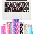 """Big Font Unique Ultra Thin Silicone Keyboard Skin Cover for MacBook Pro 13"""" 15"""" 17"""" iMac and MacBook Air 13"""" Keyboard Stickers"""