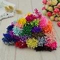 Unids 300 piezas mini perla estambre azúcar flor artificial hecha a mano para la decoración de la boda diy costura scrapbooking guirnalda flor falsa