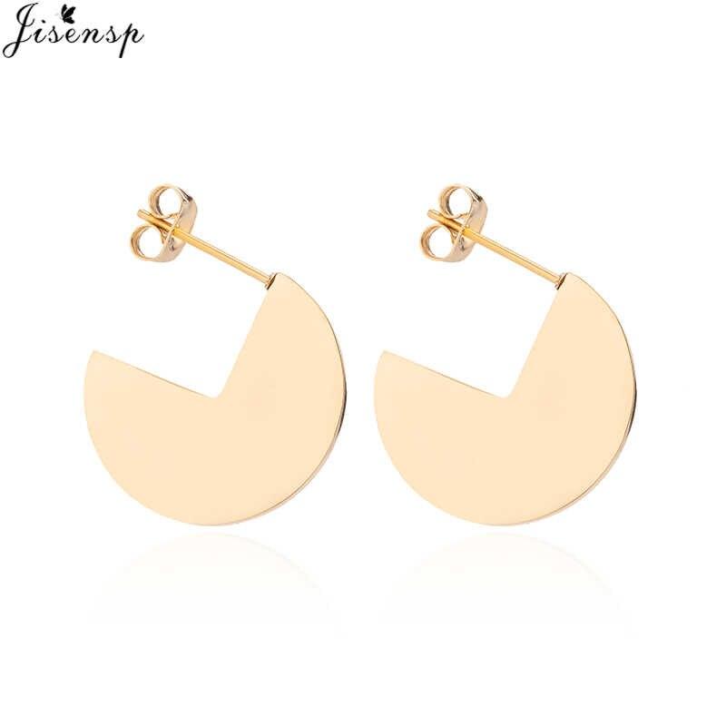 6c28aff5dbd7 ... Jisensp Ethnic Simple Stud Earrings for Women Vintage Gold Color Circle Earrings  pendientes Fashion Jewelry Female ...