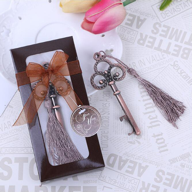 Small Gift For Wedding: 20pcs/lot Antique Victorian Key Bottle Opener Wedding