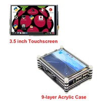 New Raspberry Pi 3.5 inch Touchscreen LCD Display + 9 layer Acrylic Case and Raspberry Pi 3 2 Model B kit