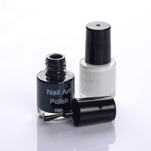 2Pcs Set White Black Color Nail Art Stamping Polish Nail Varnish Stamp Polish Print For Pretty Manicure