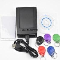 125KHz USB Proximity access control Smart rfid id Card Reader and writer copier+5pcs T5577 tag+5pcs EM4305 T5577 card