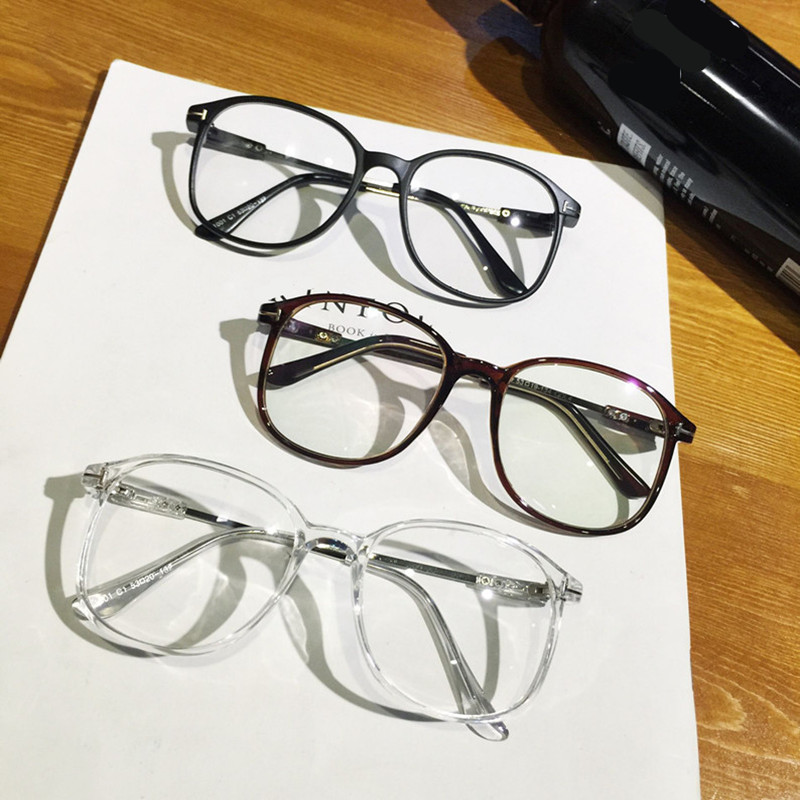 Clear Fashion Round Transparent Glasses Frame Women Semi Rimless ...