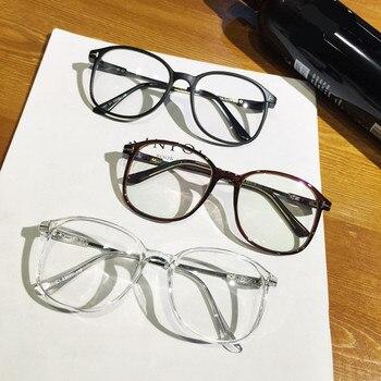25deb7b906 Diseño De marca Vintage Big Oversized Frame gafas mujeres hombres ordenador gafas  opticas montura gafas De Grau