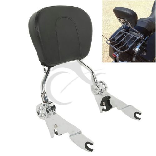 Adjustable Sissy Bar Passenger Backrest W/ Pad For Harley Touring Model Road King Street Electra Glide FLHR FLHX FLHT FLTR 09-18 adjustable 1 2 inches lowering kit for harley touring road king electra street glide flhx flht 2002 2016