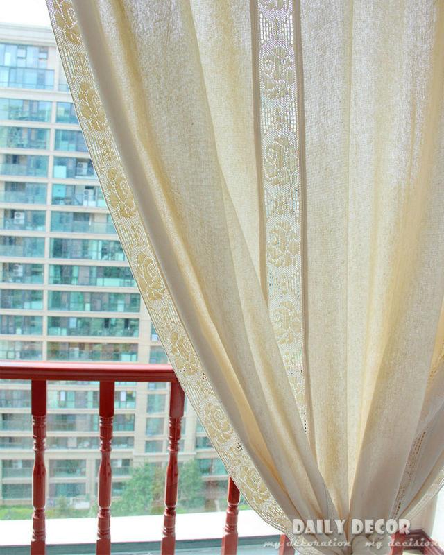 180 260cm 100 hi q cotton linen crochet vintage curtains las cortinas rideau le tende der. Black Bedroom Furniture Sets. Home Design Ideas