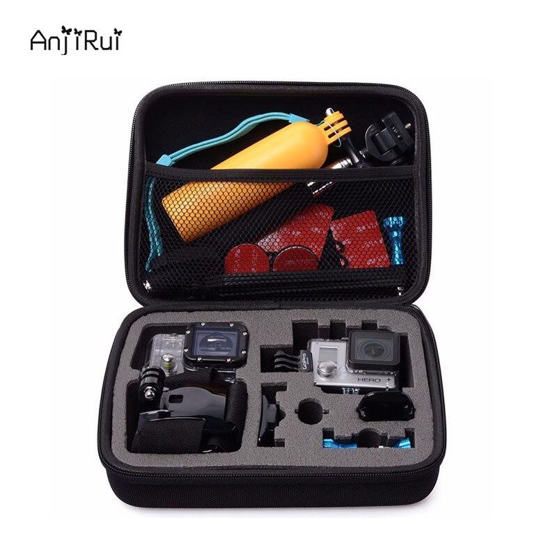 EVA Antichoc Dur Portable étui de protection sac pour Gopro Hero Sj 4 3 2/XiaomiYi D'action Caméra De Stockage De Voyage cas Accessoires