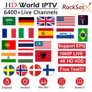 IPTV M3U Arabic Poland Portugal Sweden Dutch Subscription Smart-Tv German France Rocksat
