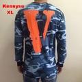 2016 hip hop streetwear men unisex vlone friends  V round neck Camouflage cotton long sleeev t shirt