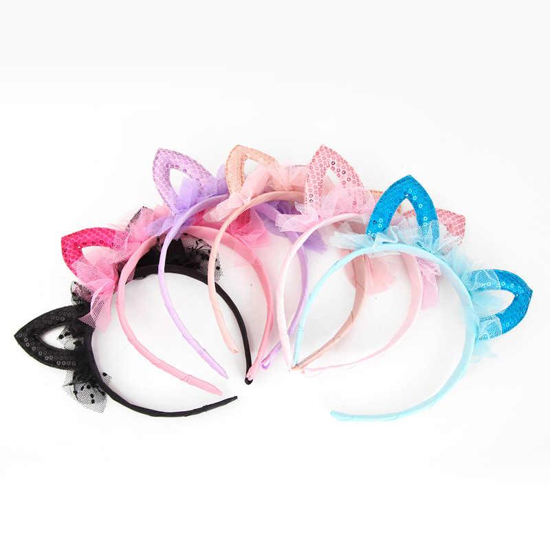 แฟชั่น 1 PC น่ารักแมวหู Hairband สำหรับผู้หญิงเซ็กซี่ดอกไม้เจ้าหญิงผม Hoop อุปกรณ์เสริมผม
