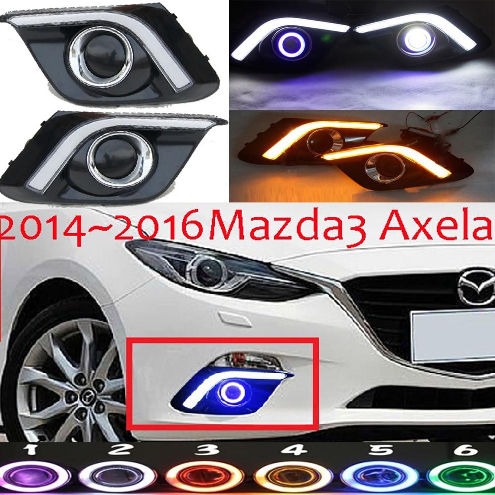 MAZD3 AXELA fog light LED 2014~2016 Free ship!MAZD 3 daytime light,2ps/set+wire ON/OFF:Halogen/HID XENON+Ballast,MAZD3