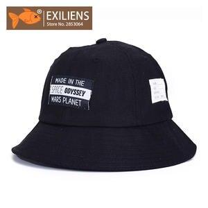 EXILIENS Bucket Hats Cotton Fishing Cap Fisherman Hat d00e683d1c92