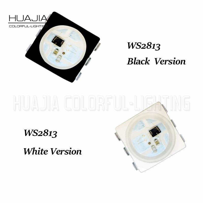 New 1000pcs Ws2813 Led Rgb Chip 6pin Smart Pixel WS2812b Upgraded Individually Addressable DC5V Smd5050 White