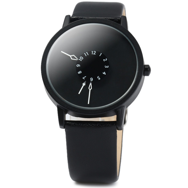 Women Watches Black Leather Strap Quartz Wrist Watch Women Ladies Dress Watches Hot Fashion Reloj Mujer ...